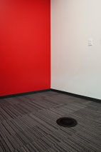Interface Carpet Tile, Johnsonite Rubber Base