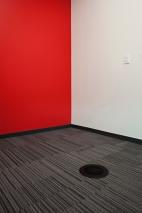 Interface Carpet Tile, Johnsonite Rubber Base